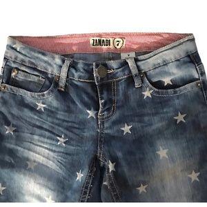 ZANA DI Star Jeans Skinny Low Rise Med Wash Denim